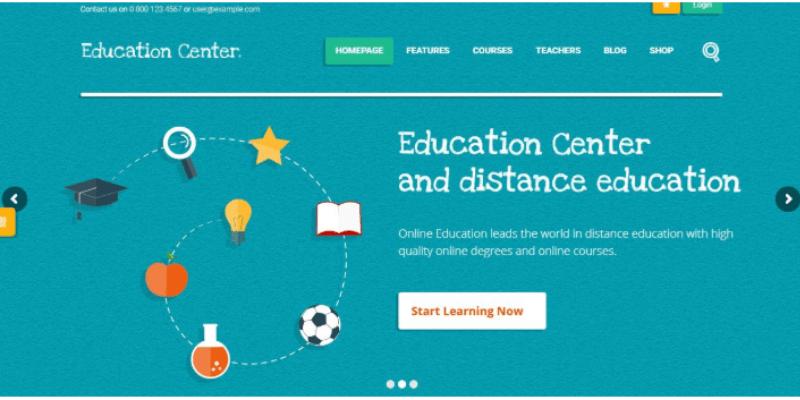 mẫu website giáo dục