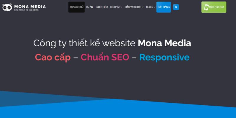 công ty thiết kế website học trực tuyến mona media
